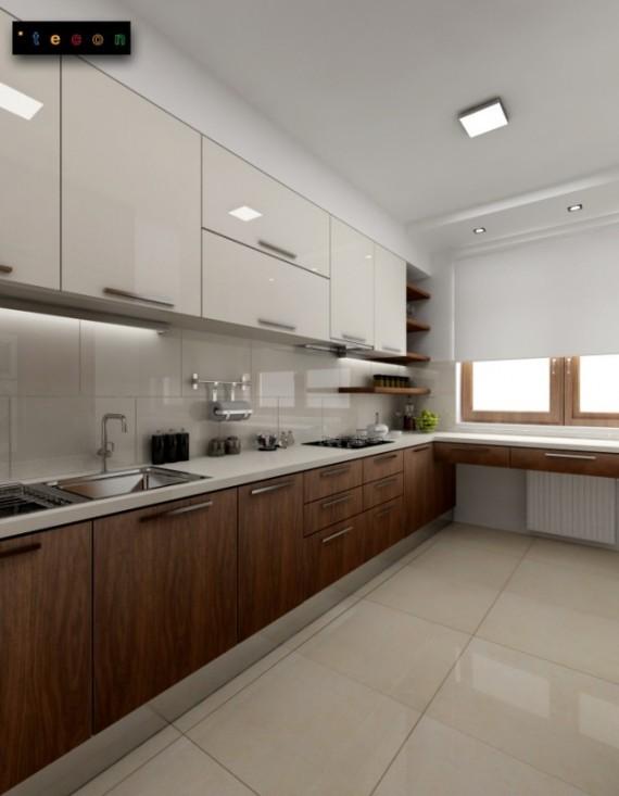 Projekt dużej kuchni  duża kuchnia  Projekty, aranżacje   -> Projekt Kuchni Duzej