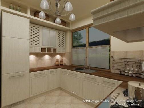 Projekt I Wizualizacja Kuchni Kuchnia Rustykalna