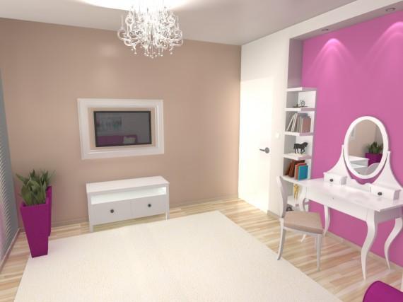 Pokój Dziewczynki Meble Ikea Różowy Pokój Pokój