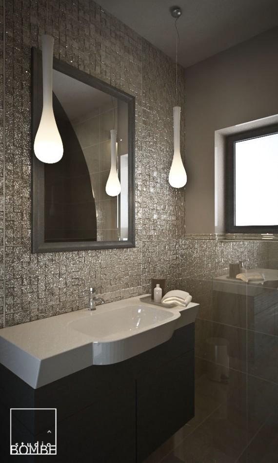 Projekt Wnętrza Mała łazienka Studio Bombe Projekt