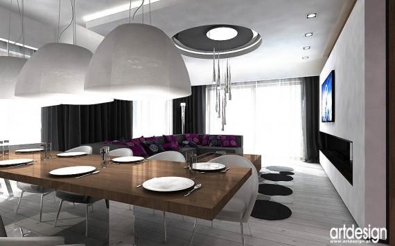 LOVE MAGENTA! Wnętrze domu  salon, aranżacja salonu, kuchnia, jadalnia  zd   -> Aranżacja Kuchnia Jadalnia Salon