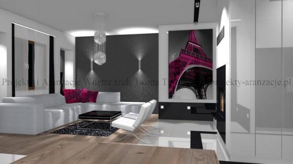 salon nowoczesny glamour aranżacja salonu iwona tryba