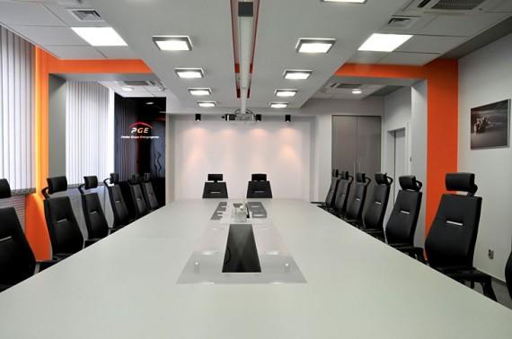 wnętrze biurowe biuro dekorex sala konferencyjna