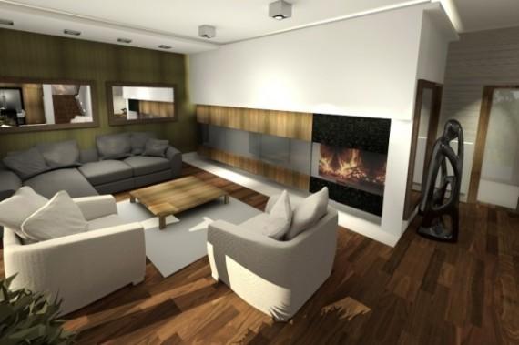 Dom Jednorodzinny Kanie Dom Projekt Drewno Wnętrze