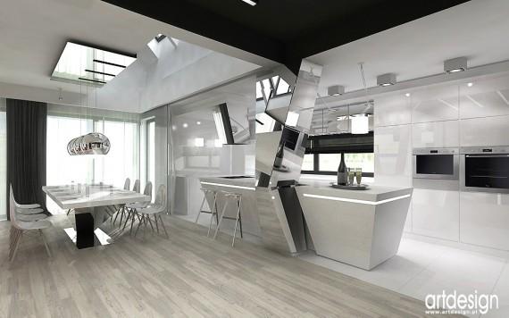 dom Katowice - otwarta kuchnia, kuchnia z salonem - zdjęcie 4 - Projekty, aranżacje wnętrz ...