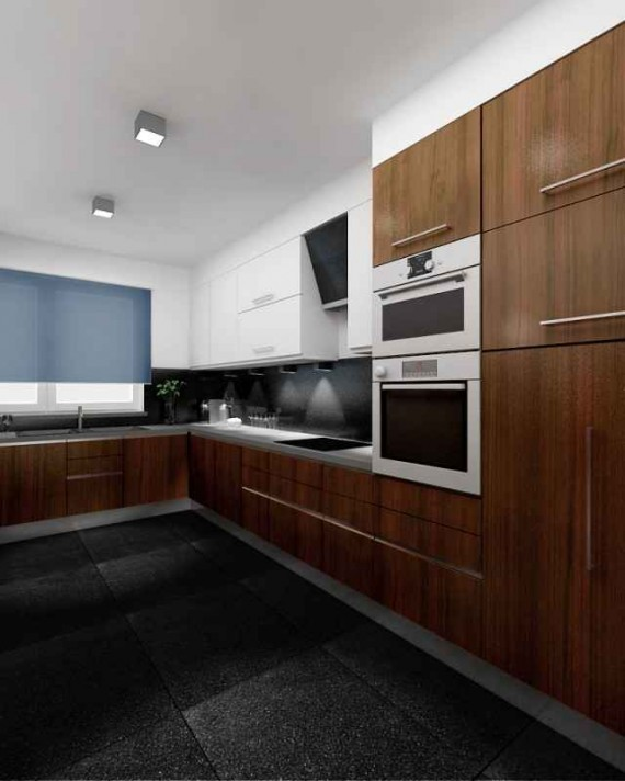 Projekt kuchni - nowoczesna kuchnia - Projekty, aranżacje wnętrz, wnętrza mieszkań, domów ...
